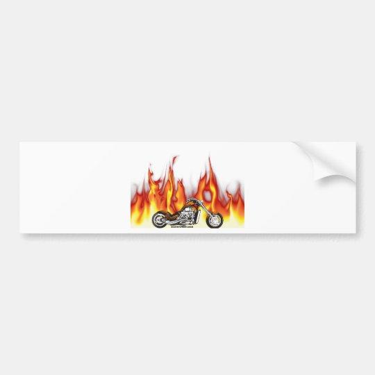 Motorcycle Fire Bumper Sticker