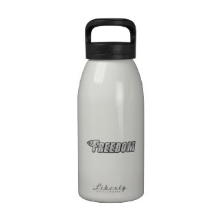 Motorcycle Flames - Freedom Water Bottles
