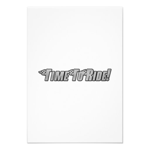 Motorcycle Flames - Time To Ride Invitation