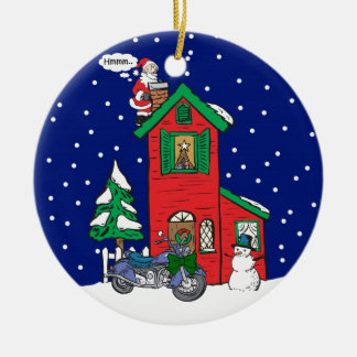 Motorcycle Gifts By Gear4gearheads Double-Sided Ceramic Round Christmas Ornament