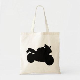 Motorcycle Girl Budget Tote Bag