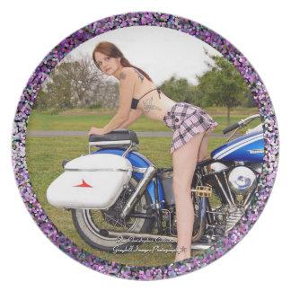 Motorcycle Goddess Melamine Plate