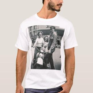 motorcycle guy and 2 girls shirt