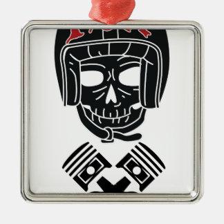 Motorcycle Helmet Skull 1%er Metal Ornament