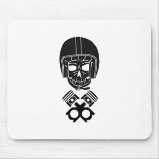 Motorcycle Helmet Skull Mouse Pad