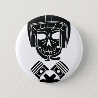 Motorcycle Helmet Skull Pinback Button