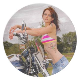 Motorcycle Honey Plate