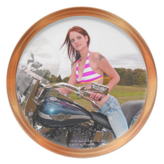 Motorcycle Hotness Melamine Plate