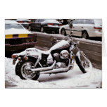 'Motorcycle in Winter' Holiday Card - Season's