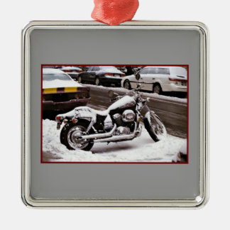 'Motorcycle in Winter' Ornament