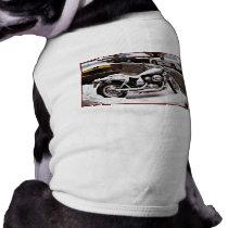 'Motorcycle in Winter' Pet T-shirt