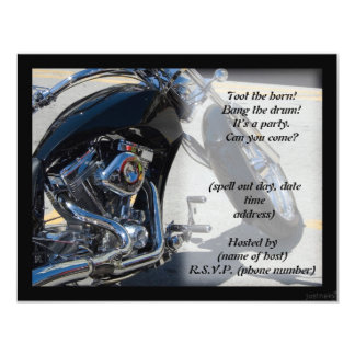 motorcycle iv party invite