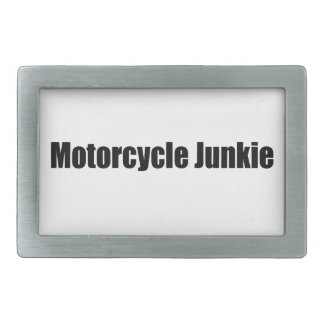 Motorcycle Junkie Rectangular Belt Buckles
