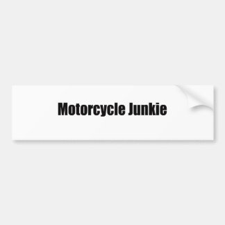Motorcycle Junkie Bumper Sticker