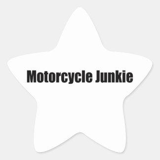 Motorcycle Junkie Star Sticker