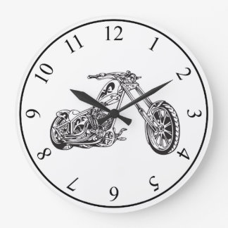 Motorcycle Large Clock