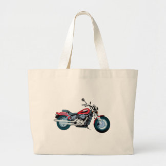 Motorcycle Large Tote Bag