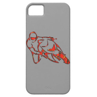Motorcycle Logo Leaning Into Curve Red Streaks iPhone SE/5/5s Case