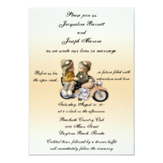 Great Motorcycle Love Wedding Invitations