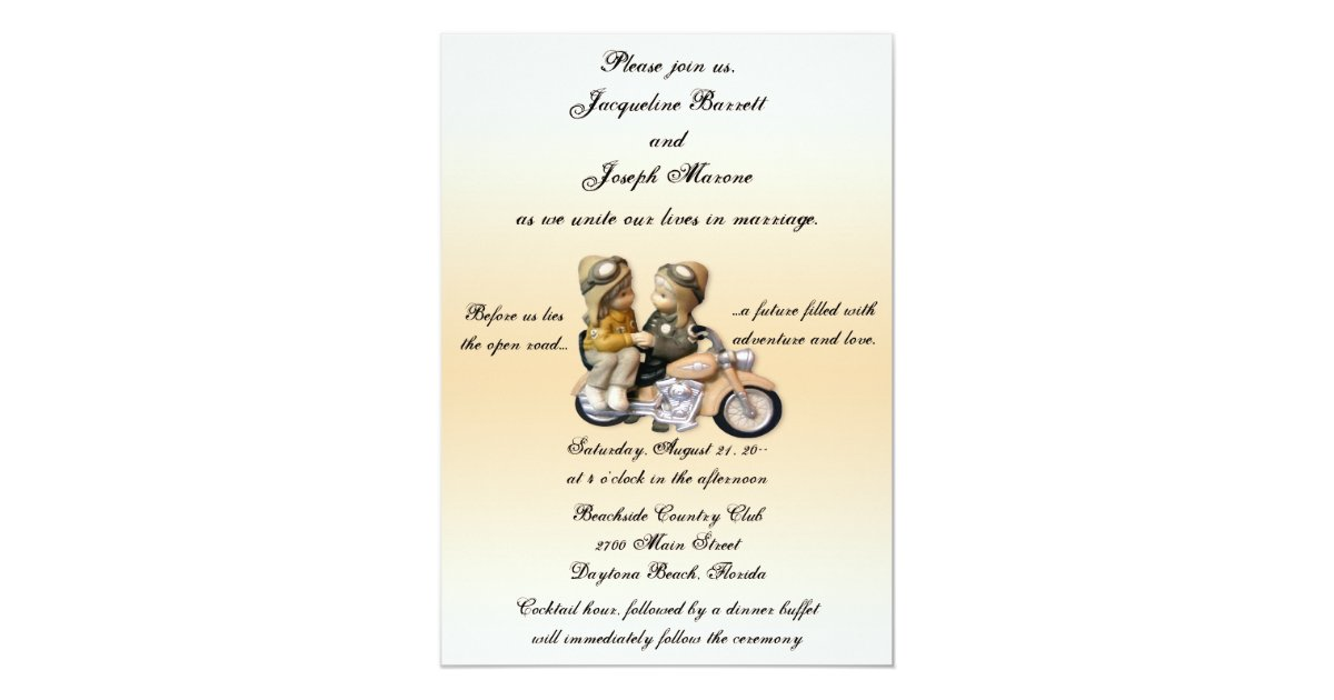 Biker Wedding Invitations: Motorcycle Love Wedding Invitations
