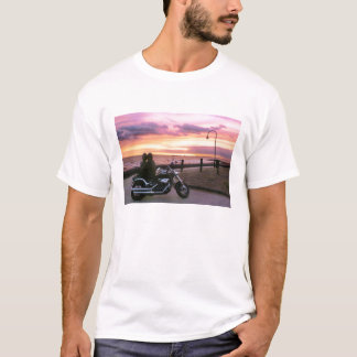 Motorcycle Lovers at Sunset T-Shirt
