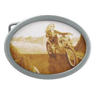 Motorcycle Mama Belt Buckle