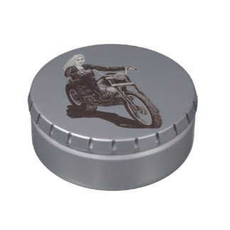 Motorcycle Mama Jelly Belly Candy Tins