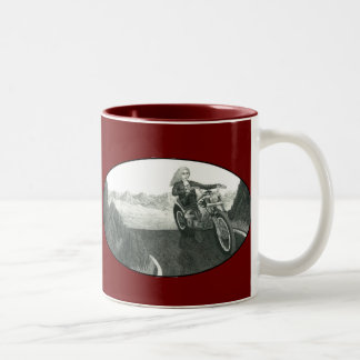 Motorcycle Mama Two-Tone Coffee Mug