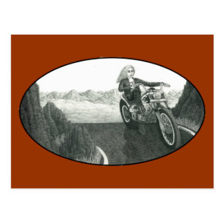 Motorcycle Mama Postcard