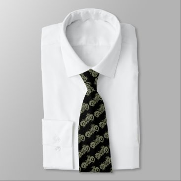 Professional Business Motorcycle Man Tie
