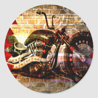 Motorcycle Mania Classic Round Sticker