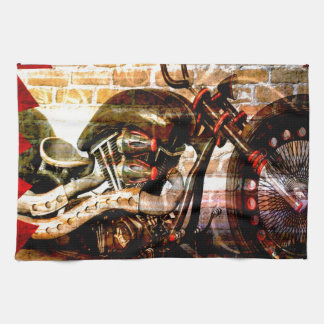 Motorcycle Mania Kitchen Towels