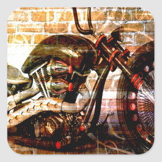 Motorcycle Mania Square Sticker