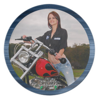 Motorcycle Mechanic Chic Dinner Plate