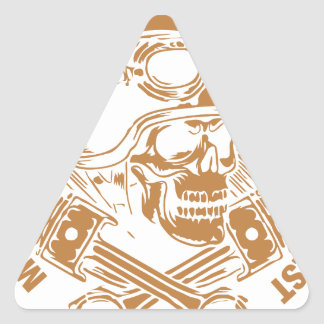 Motorcycle Mechanics Ride Better Than The Rest Triangle Sticker