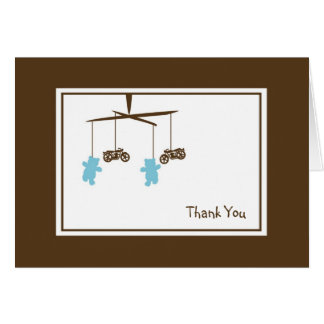 Motorcycle Mobile Thank You Note Stationery Note Card