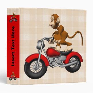 Motorcycle Monkey Avery Binder