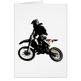 Motorcycle Motocross Card