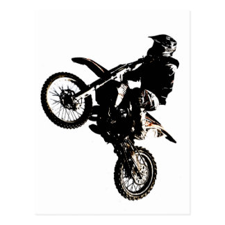Motorcycle Motocross Postcard