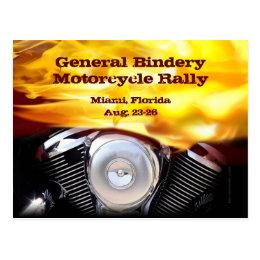 Motorcycle Motor Postcard