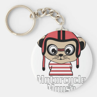 Motorcycle Mouse, rate cartoon vintage design Keychain