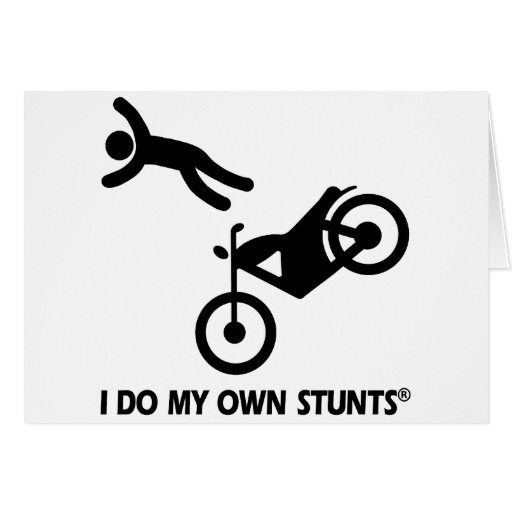 Motorcycle My Own Stunts Cards