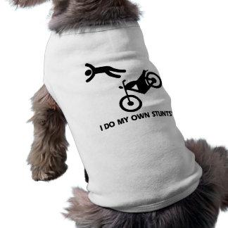 Motorcycle My Own Stunts Doggie Shirt