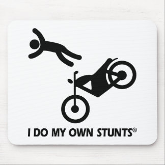Motorcycle My Own Stunts Mouse Pad