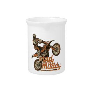 Motorcycle off road racing pitcher