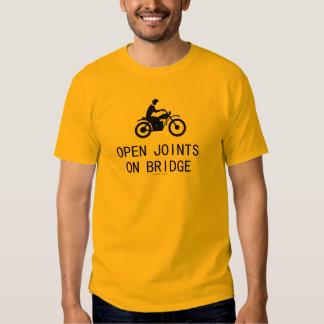 Motorcycle - Open Joints on Bridge T-shirt