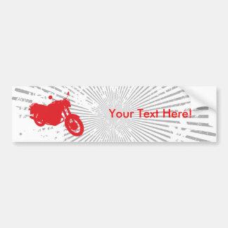 Motorcycle: Outline Profile: Bumper Sticker Car Bumper Sticker