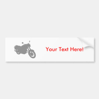 Motorcycle: Outline Profile: Car Bumper Sticker