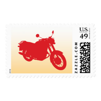 Motorcycle: Outline Profile: Custom Postage Stamps
