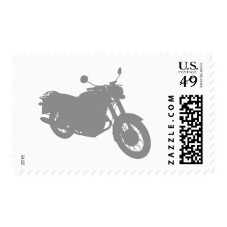 Motorcycle: Outline Profile: Custom Postage Postage Stamp